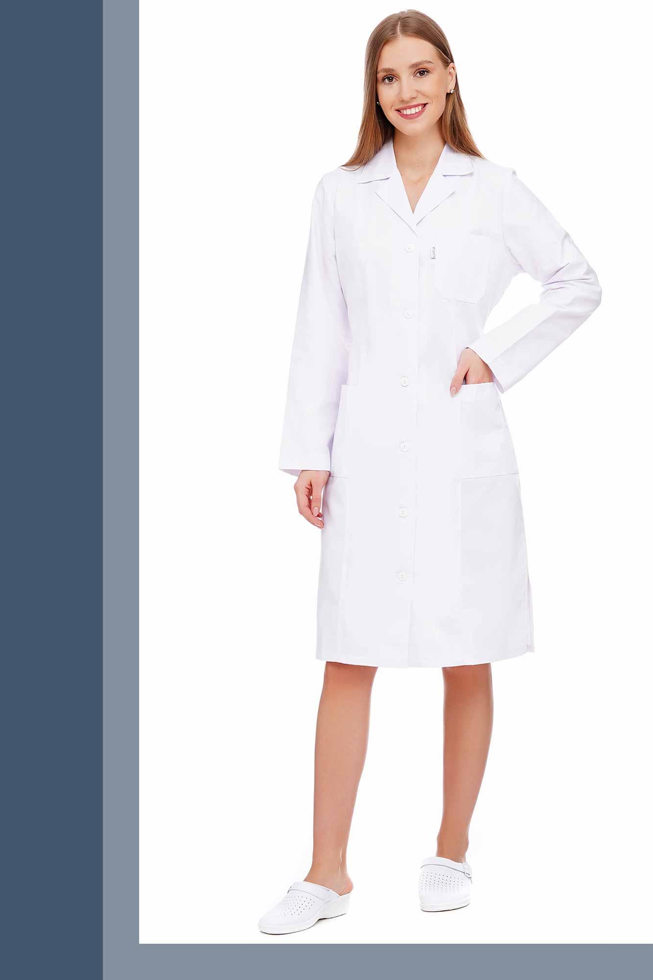 Халат медичний модельний, модель №01