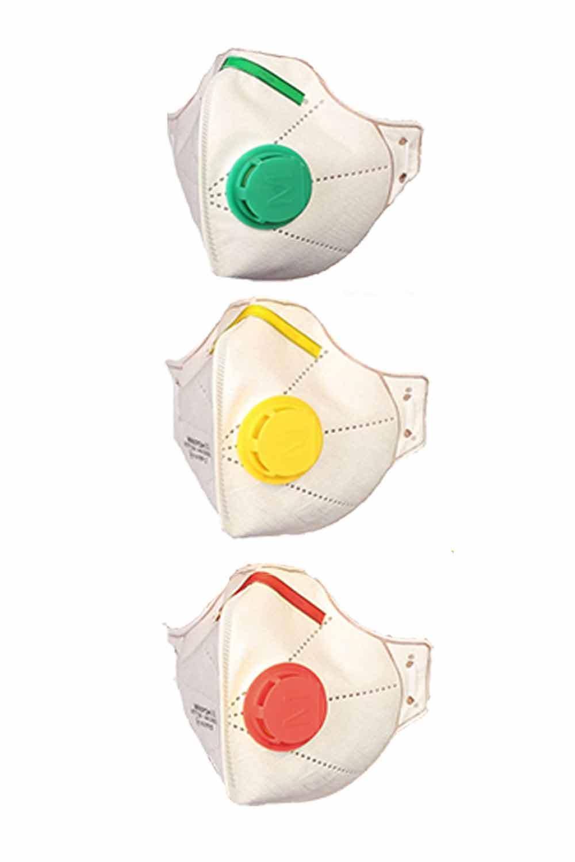 Півмаска фільтрувальна Мікрон FFP1 NR/Мікрон FFP2 NR/МікронFFP3 NR  з клапаном видиху